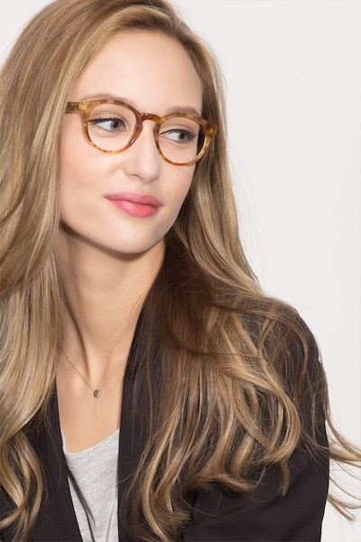 Jade Tortoise Acetate Eyeglass Frames for Women from EyeBuyDirect, Front View