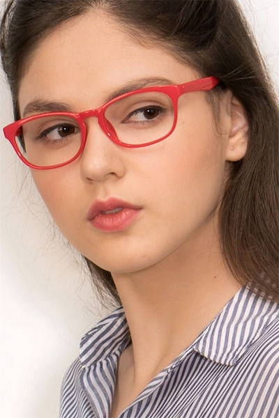 Drums  Red  Plastic Eyeglass Frames for Women from EyeBuyDirect, Front View