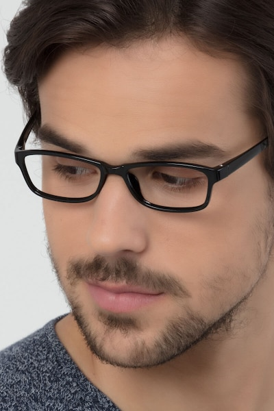 Versus  Black  Plastic Eyeglass Frames for Men from EyeBuyDirect
