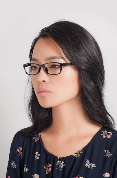 Versus  Black  Plastic Eyeglass Frames for Women from EyeBuyDirect