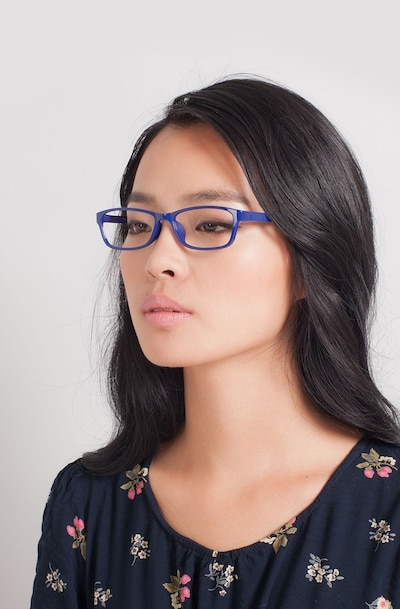 Versus  Navy  Plastic Eyeglass Frames for Women from EyeBuyDirect