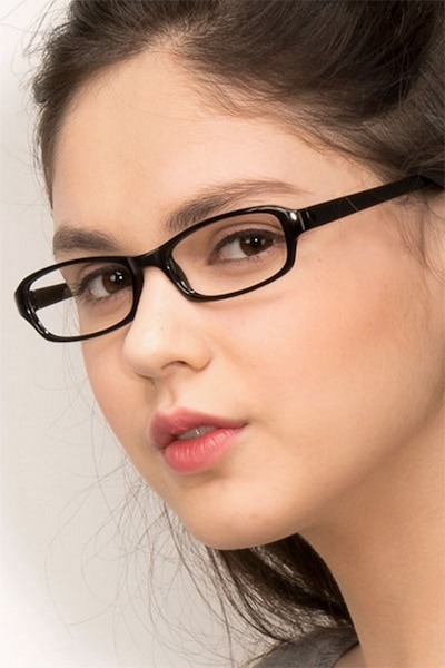 Adept  Black  Plastic Eyeglass Frames for Women from EyeBuyDirect