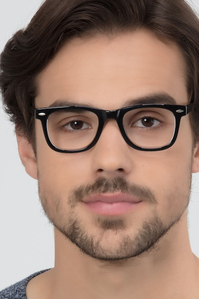 Blizzard  Black  Acetate Eyeglass Frames for Men from EyeBuyDirect