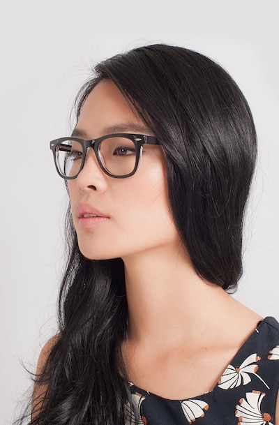 Blizzard  Black  Acetate Eyeglass Frames for Women from EyeBuyDirect