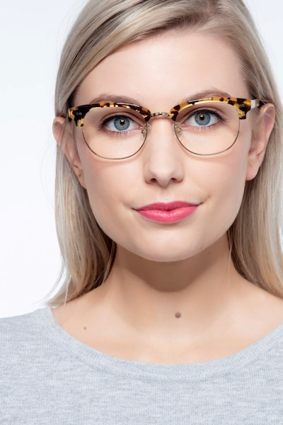 Concorde Tortoise Plastic Eyeglass Frames for Women from EyeBuyDirect, Front View
