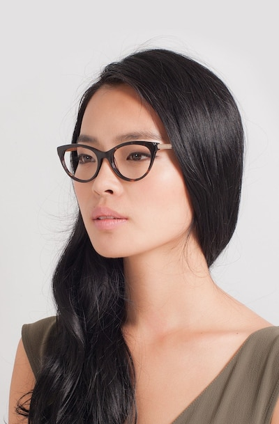 Her Tortoise Acetate Eyeglass Frames for Women from EyeBuyDirect