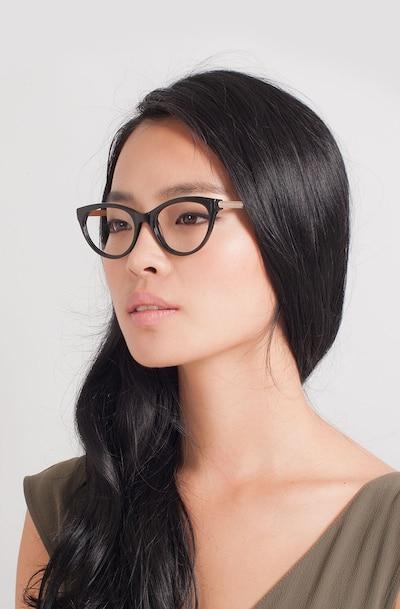 Her Black Acetate-metal Eyeglass Frames for Women from EyeBuyDirect