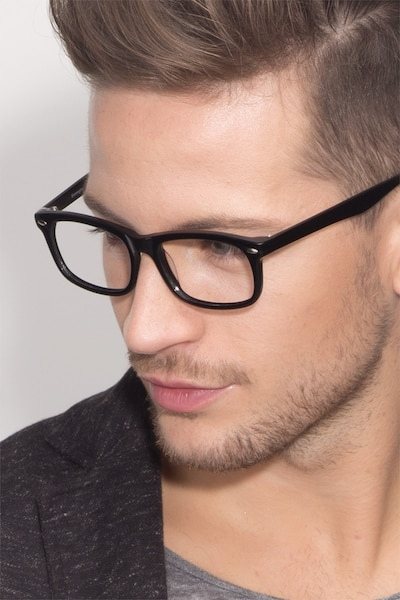 Birmingham Black Acetate Eyeglass Frames for Men from EyeBuyDirect
