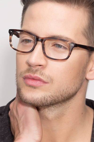 Birmingham Coffee Acetate Eyeglass Frames for Men from EyeBuyDirect