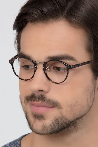 Small Chillax Red/Floral Plastic Eyeglass Frames for Men from EyeBuyDirect