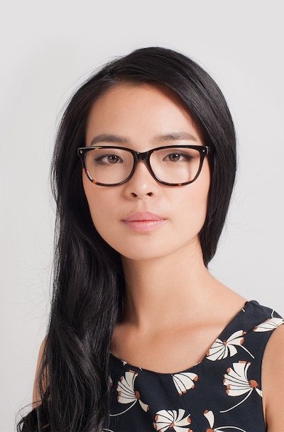 Allure Tortoise Acetate Eyeglass Frames for Women from EyeBuyDirect, Front View