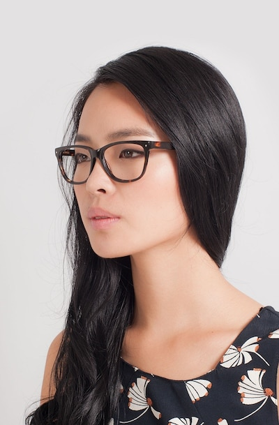 Allure Tortoise Acetate Eyeglass Frames for Women from EyeBuyDirect