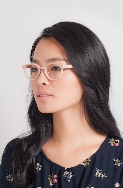 Rose Pink Acetate Eyeglass Frames for Women from EyeBuyDirect