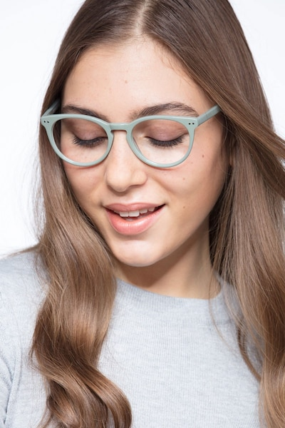 Morning Green Acetate Eyeglass Frames for Women from EyeBuyDirect, Front View