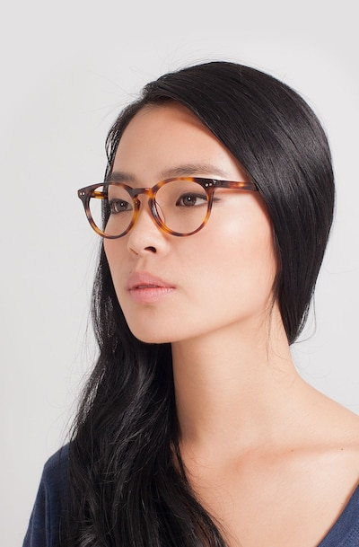 Morning Tortoise Acetate Eyeglass Frames for Women from EyeBuyDirect
