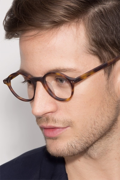 Mellow Matte Tortoise Acetate Eyeglass Frames for Men from EyeBuyDirect