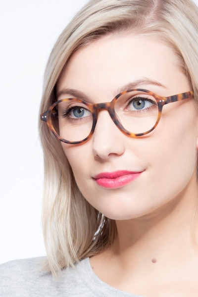 Mellow Matte Tortoise Acetate Eyeglass Frames for Women from EyeBuyDirect