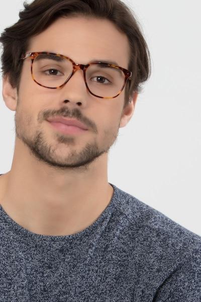 Lisbon Écailles Acétate Montures de Lunettes pour Hommes d'EyeBuyDirect, Vue de Face
