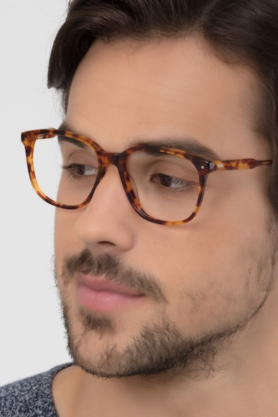 Lisbon Tortoise Acetate Eyeglass Frames for Men from EyeBuyDirect