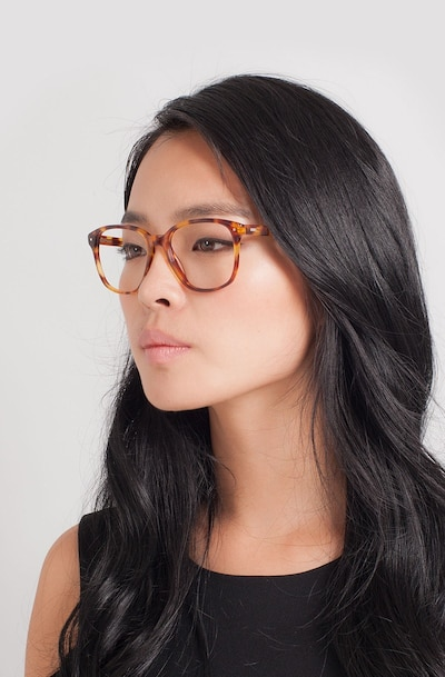 Lisbon Tortoise Acetate Eyeglass Frames for Women from EyeBuyDirect