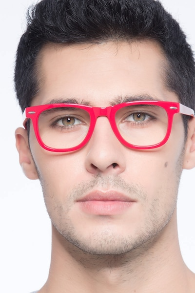 Blizzard Raspberry Acetate Eyeglass Frames for Men from EyeBuyDirect