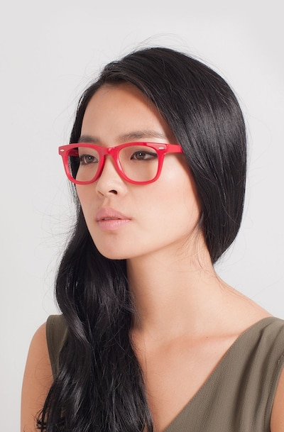 Blizzard Raspberry Acetate Eyeglass Frames for Women from EyeBuyDirect