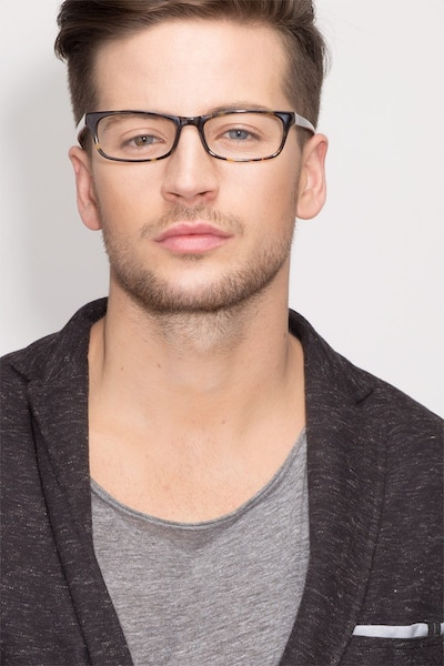 Opal Tortoise Acetate Eyeglass Frames for Men from EyeBuyDirect, Front View