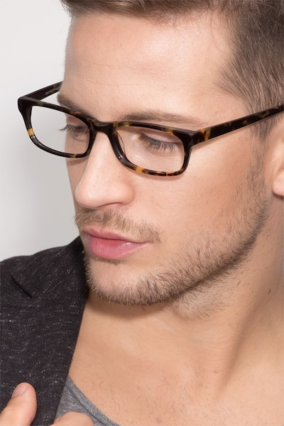 Opal Tortoise Acetate Eyeglass Frames for Men from EyeBuyDirect