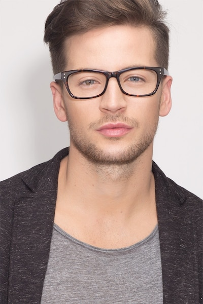 Avalon Tortoise Acetate Eyeglass Frames for Men from EyeBuyDirect, Front View