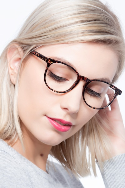 Chilling Red/Floral Plastic Eyeglass Frames for Women from EyeBuyDirect