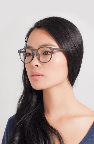 Chilling Matte Gray Plastic Eyeglass Frames for Women from EyeBuyDirect