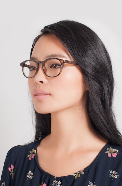 Instant Crush Leopard Plastic Eyeglass Frames for Women from EyeBuyDirect
