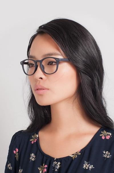 Instant Crush Matte Navy Plastique Montures de Lunettes pour Femmes d'EyeBuyDirect