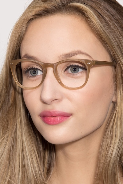 Flume Taupe Acetate Eyeglass Frames for Women from EyeBuyDirect