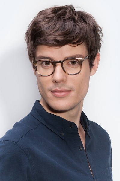 Shade Macchiato Acetate Eyeglass Frames for Men from EyeBuyDirect, Front View