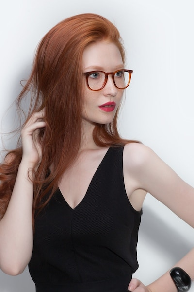 Shade Cinnamon Acetate Eyeglass Frames for Women from EyeBuyDirect