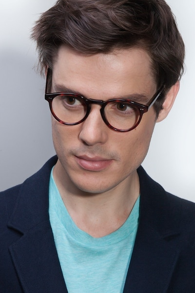 Theory Warm Tortoise Acetate Eyeglass Frames for Men from EyeBuyDirect