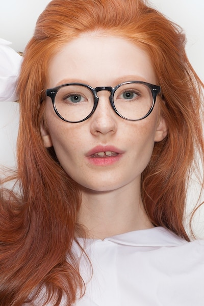 Theory Striped Granite Acetate Eyeglass Frames for Women from EyeBuyDirect