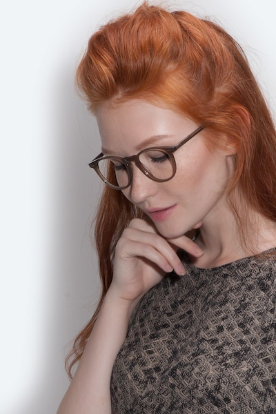 Prism Taupe Acetate Eyeglass Frames for Women from EyeBuyDirect