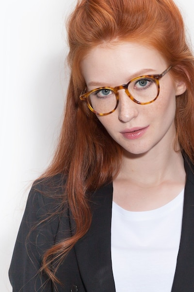 Prism Blonde Tortoise Acetate Eyeglass Frames for Women from EyeBuyDirect
