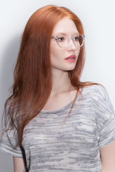 Prism Clear Acetate Eyeglass Frames for Women from EyeBuyDirect, Front View