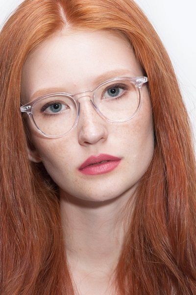 Prism Clear Acetate Eyeglass Frames for Women from EyeBuyDirect