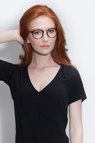 Nostalgia Caramel Acetate Eyeglass Frames for Women from EyeBuyDirect, Front View