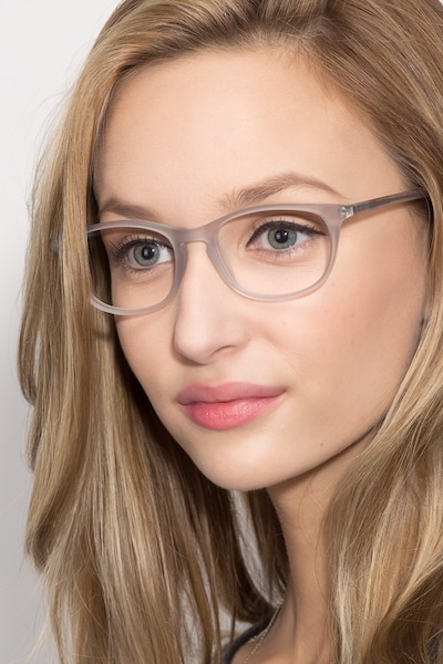 Valentin Clear/Gray Acetate Eyeglass Frames for Women from EyeBuyDirect