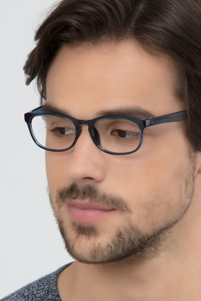 Drums Blue Plastic Eyeglass Frames for Men from EyeBuyDirect