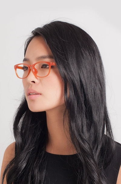 Drums Orange Plastic Eyeglass Frames for Women from EyeBuyDirect