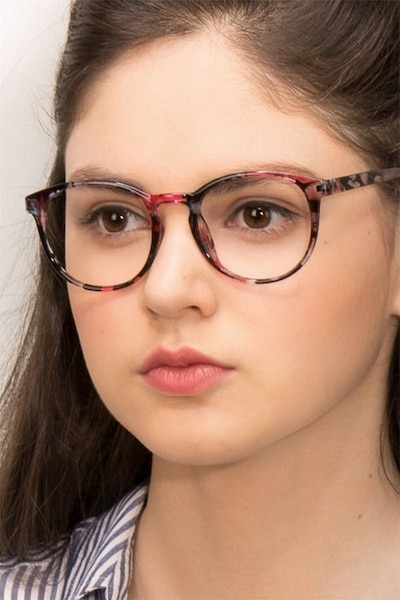 Muse Pink Floral Plastic Eyeglass Frames for Women from EyeBuyDirect