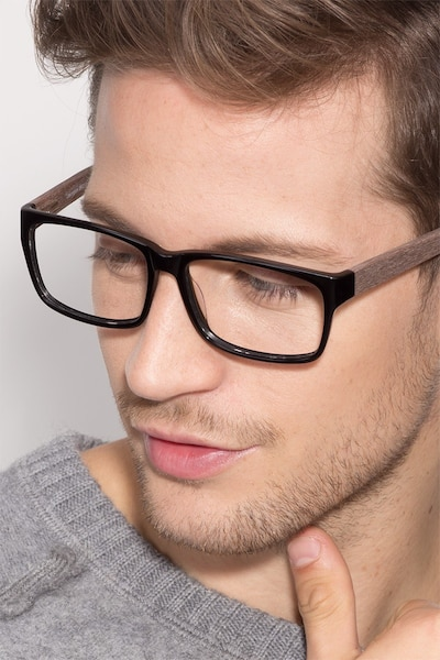 Lexington Black/brown Acetate Eyeglass Frames for Men from EyeBuyDirect