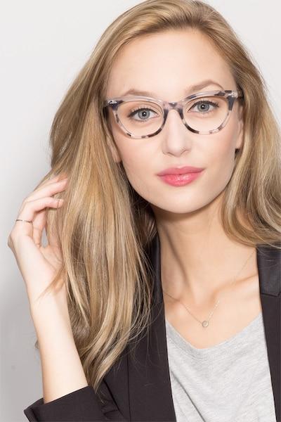 Ellie Gris Acétate Montures de Lunettes pour Femmes d'EyeBuyDirect, Vue de Face