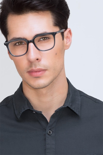 Ornette  Blue  Acetate Eyeglass Frames for Men from EyeBuyDirect, Front View